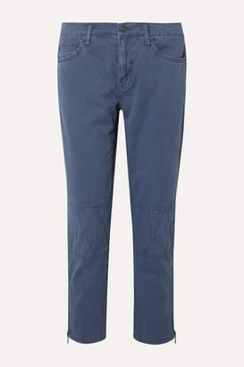 Current/Elliott The Debbie Crop Slim-leg Jeans - Blue
