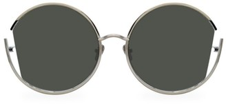 Linda Farrow 851 C5 Round Cut-Out Sunglasses