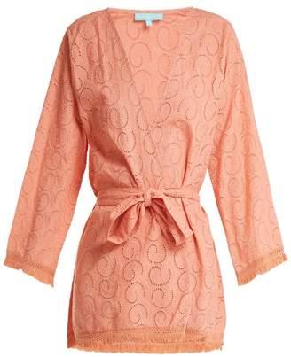Melissa Odabash Pippa Long Sleeve Cotton Dress - Womens - Light Orange