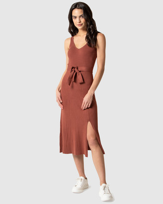 Forever New Colette Fit and Flare Midi Knit Dress