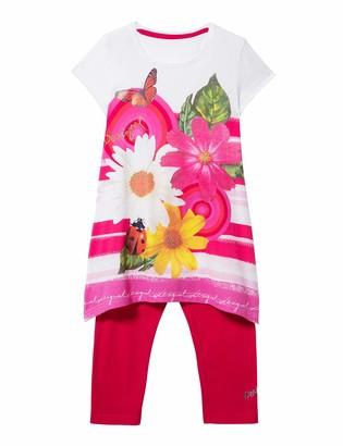 Desigual Girl's Knit T-Shirt Short Sleeve (Pack_tamarindo)