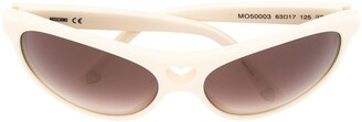 Moschino Pre Owned Heart Cutout Sunglasses
