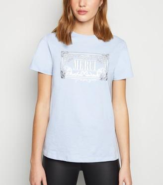 New Look Merci Metallic Slogan T-Shirt