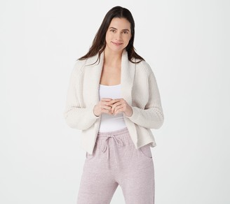 Barefoot Dreams CozyChic Ribbed Shawl Collar Cardi