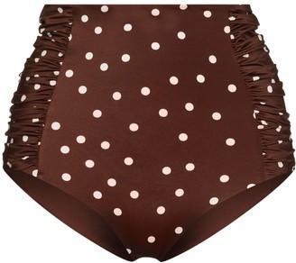 Johanna Ortiz Polka Dot Print Bikini Bottoms