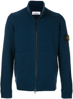 Stone Island logo patch cardigan