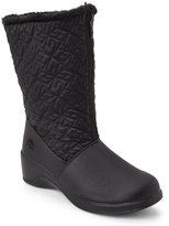 totes Black Jonie Quilted Snow Boots