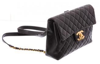 Chanel Black Leather Backpacks