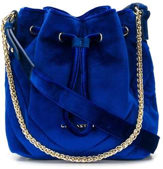 Lancaster small velvet bucket bag