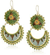 Miguel Ases Jade Half Moon Drop Earrings