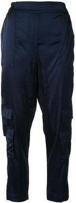 Manning Cartell Australia Tapered-Leg Satin Cargo Trousers