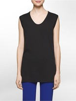 Calvin Klein Platinum Lightweight Stretch Scoopneck Tank Top