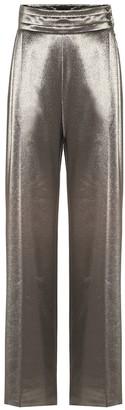 Max Mara Albina stretch silk high-rise pants