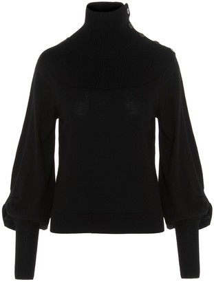 Chloé Balloon Sleeve Turtleneck Jumper