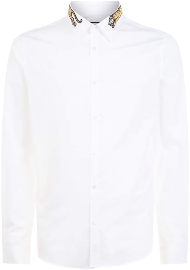 Gucci Duke Tiger Collar Shirt