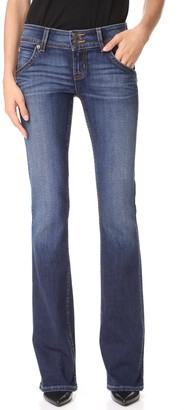 Hudson womensSignature Bootcut Flap Pocket Jean Jeans - Blue - 24 34