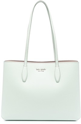 Kate Spade Logo-Plaque Leather Tote Bag