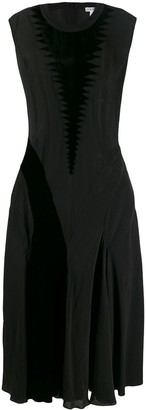Loewe Velvet Patch Long Dress
