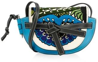 Loewe Mini Gate Floral Leather Saddle Bag