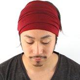 Casualbox mens Elastic Bandana Headband Japanese Long Hair Dreads Head wrap