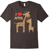 I Love April the Giraffe-Mom and Baby-Kids or Adult T-Shirt