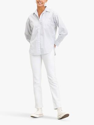 Levi's 724 High Rise Straight Leg Jeans, White