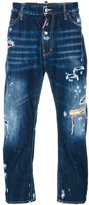 DSQUARED2 distressed denim jeans - men - Cotton/Polyester/Polyurethane/Cellulose - 46