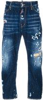 DSQUARED2 distressed denim jeans - men - Cotton/Polyester/Polyurethane/Cellulose - 48