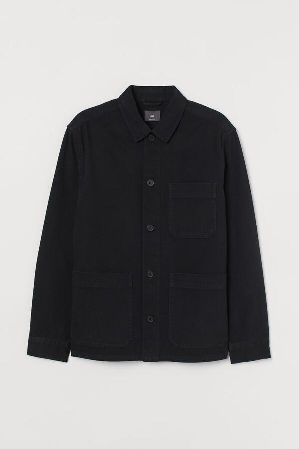 H&M Regular Fit Shirt Jacket - Black