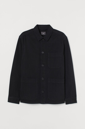 H&M Regular Fit Shirt Jacket - Black