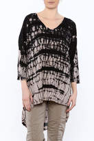 XCVI Black Tunic Top