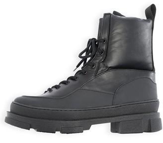 Ganni Hiking Mix Boot in Black