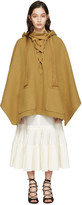 Chloé Brown Oversized Lace-up Poncho