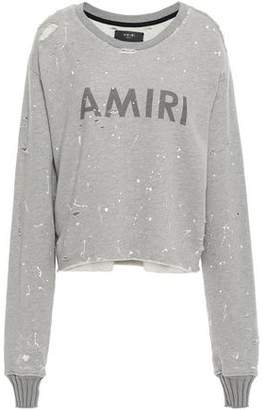Amiri Distressed Painted Cotton And Modal-blend French Terry Sweatshirt