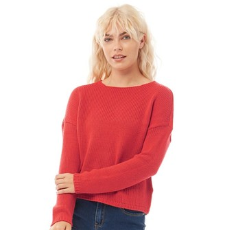 Only Womens Lexi Long sleeve Knit Jumper Mars Red