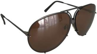 Porsche Design Silver Metal Sunglasses