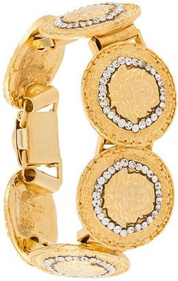 Versace Pre-Owned Crystal Detailed Medusa Bracelet