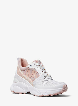 MICHAEL Michael Kors MK Mickey Mixed-Media Trainer - Soft Pink - Michael Kors