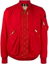 Burberry zipped bomber jacket - men - Cotton/Polyamide - 48