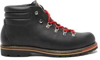 Montelliana Alberto Leather Ankle Boots - Mens - Black