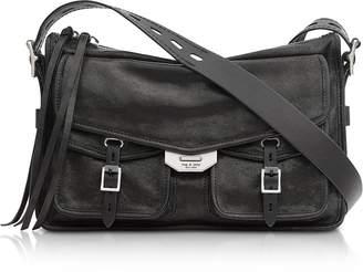 Rag & Bone Black Leather Field Messenger Bag