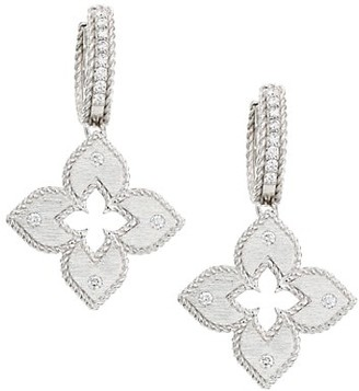 Roberto Coin Petite Venetian 18K White Gold Diamond Earrings