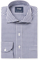 Drakes Drake's - Blue Slim-Fit Gingham Cotton-Poplin Shirt