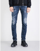 Philipp Plein Slim-fit straight distressed jeans