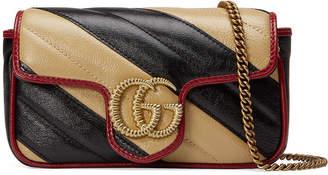 Gucci GG Marmont Striped Crossbody Bag