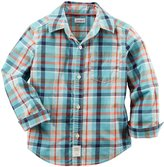 Carter's Check Button Down Shirt (Toddler/Kid) - Plaid - 5