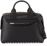 Alexander Wang Round Pebbled Satchel Bag, Black