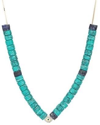 Adina Reyter Design Kits 14K Yellow Gold, Diamond, Turquoise & Lapis Necklace
