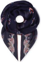 Alexander McQueen Union Jack skull print silk scarf