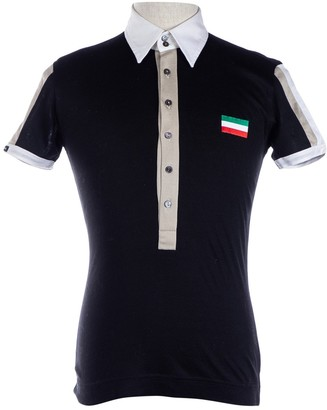 Dolce & Gabbana Black Cotton Polo shirts